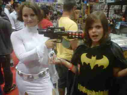 Batgirl is in trouble with Leia!!