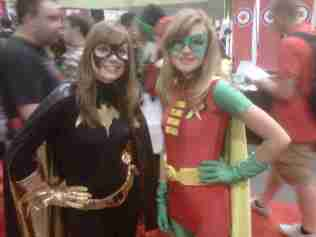 Batgirl and Robin getting ready for battle!!