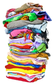 Pile of clothes Wednesday