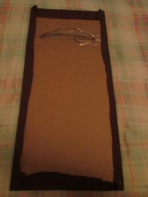 Step Six:  Attaching felt to cardboard