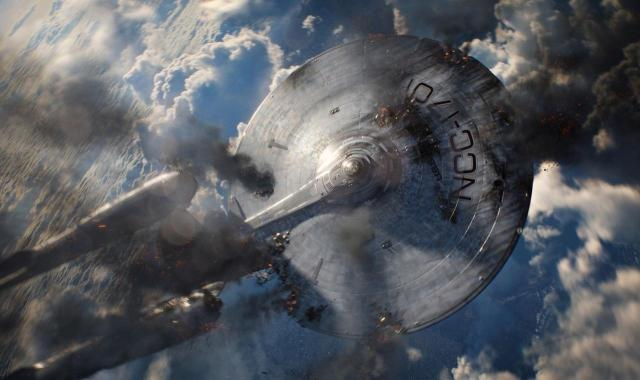 Star Trek Into Darkness Crashing Enterprise