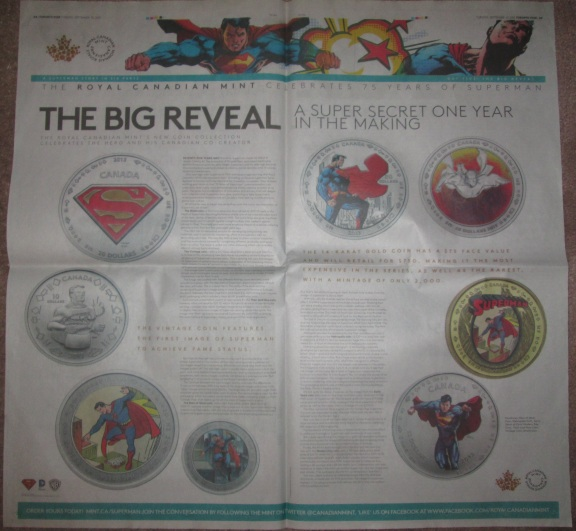 The sixth newspaper advert, from Tuesday September 10, 2013.  This one is a two page spread