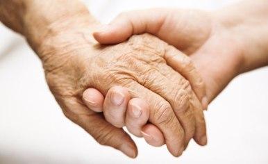 Hands Elderly Teen