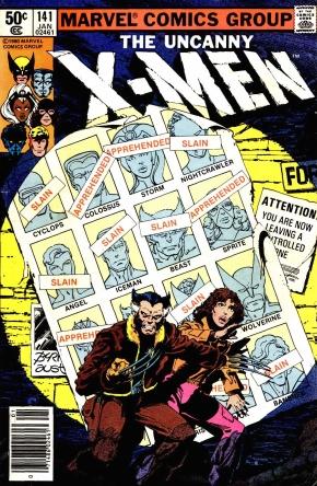 X-Men Days Of Future Past comic cover