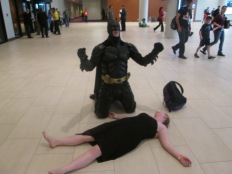 Batman, screaming in pain at the deceased Mrs. Wayne, aka @StrawberryFinn!!