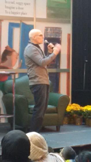 Gordon Korman, childhood idol, talking away!