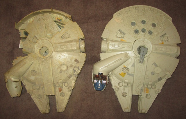Two, yes TWO Millennium Falcons!!