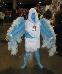 Blue lady with wings!!