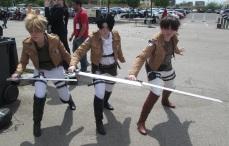 Attack On Titan times three!!!