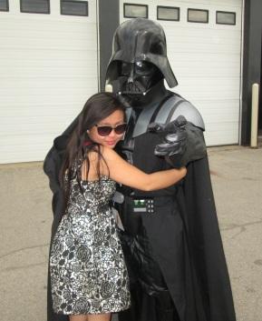 The amazing @LinhHueTran meets Darth Vader!!