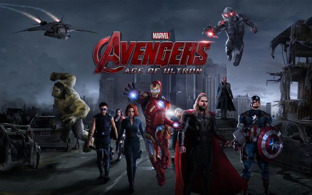 Avengers Age Of Ultron in city