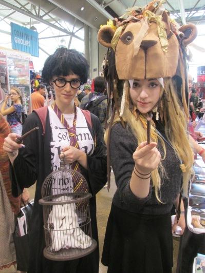 Harry Potter and Luna Lovegood represent!!