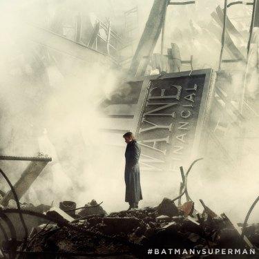 Batman V Superman Bruce Wayne wreckage