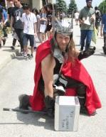 Thor pounding the ground!