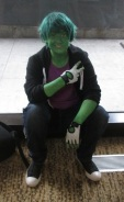 Beast Boy giving the sign!