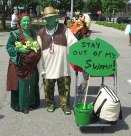 The Shrecks being polite!