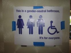 Gender-neutral bathroom at the hotel!