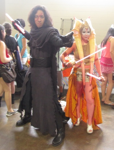 Kylo Ren and a Togruta Jedi using the Force!