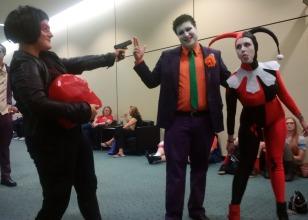 Red Hood versus Joker and Harley Quinn!