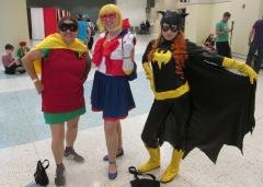 Robin and Sailor Moon and Batgirl!!