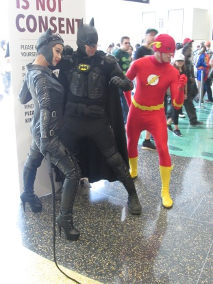 Catwoman and Batman and Flash!!!