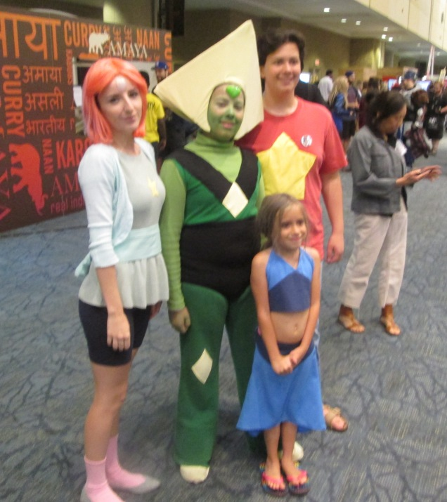 Pearl and Peridot and Steven and Lapis!!!!